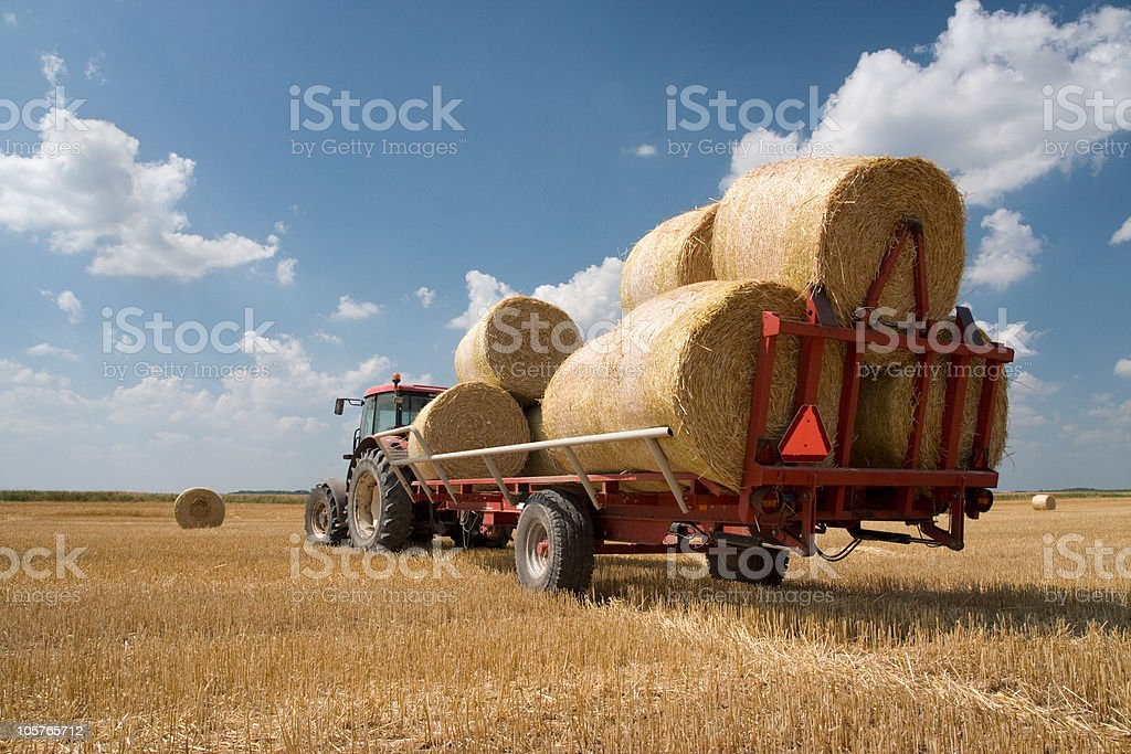 Agriculture - tractor royalty-free stock photo