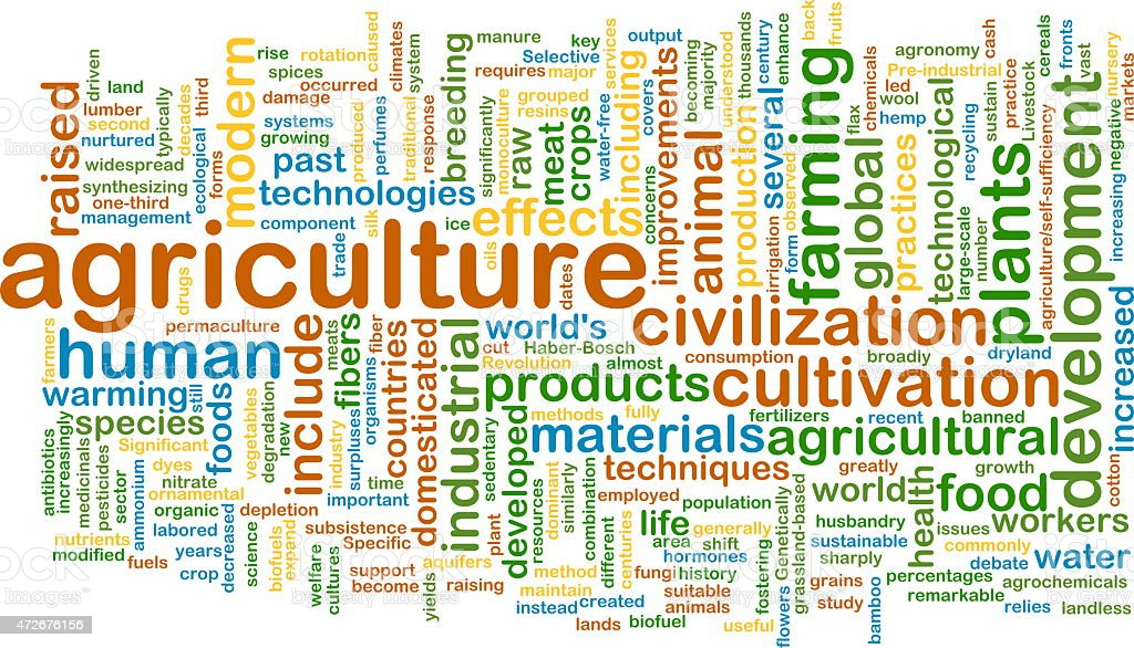 agriculture wordcloud concept illustration stock photo