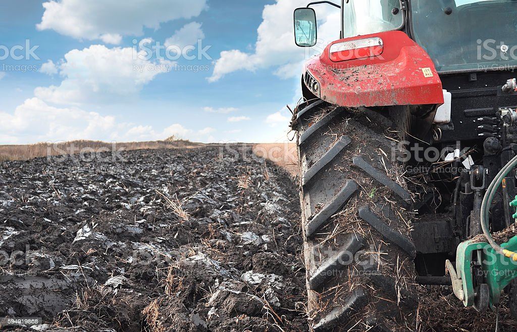 Agriculture works stock photo