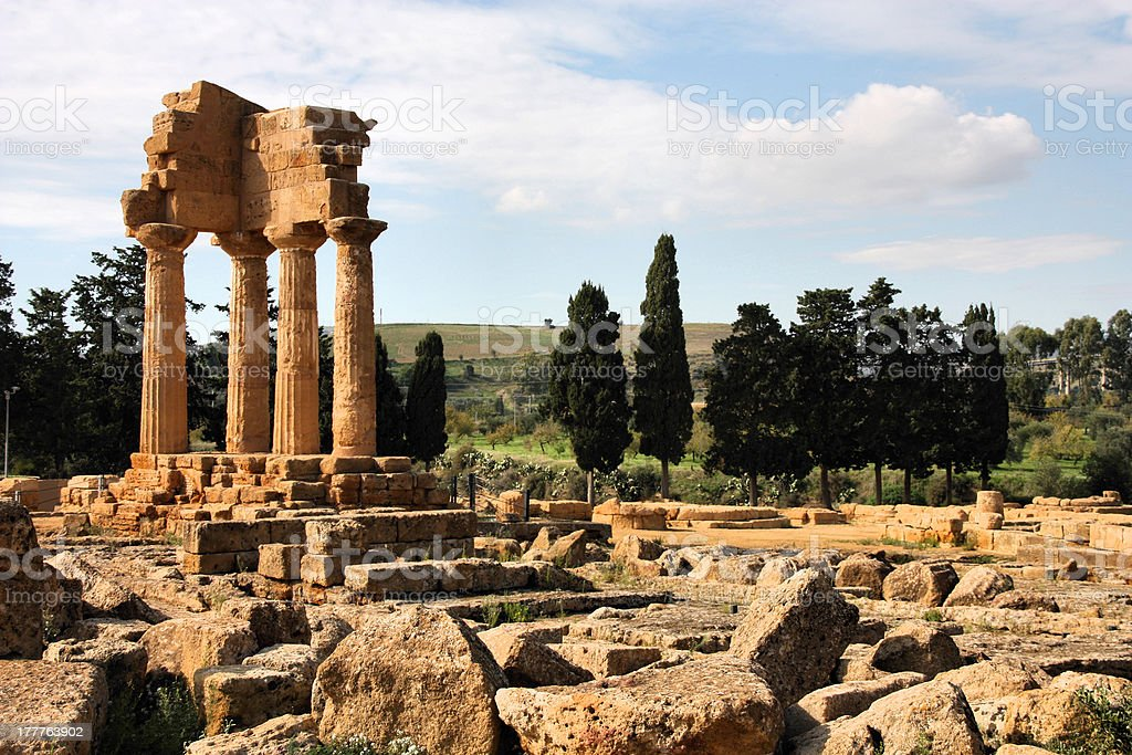 Agrigento - Greek ruins stock photo