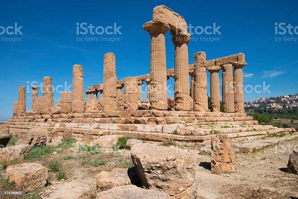 Agrigento, Hera Temple stock photo