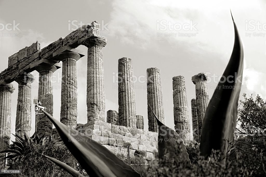 Agrigento Temple of Juno Valley of Temples Sicily Italy stock photo