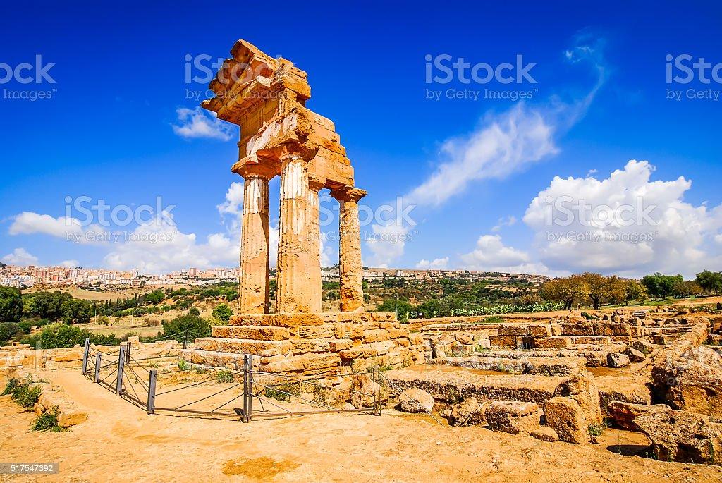 Agrigento Temple, Sicily, Italy stock photo