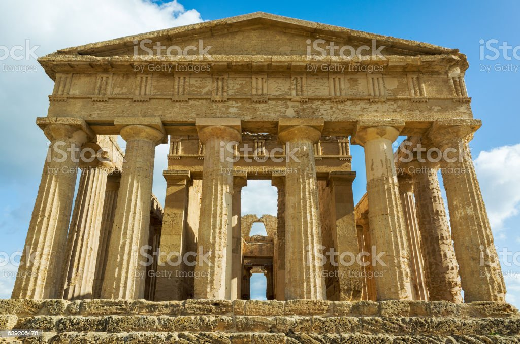 Agrigento, Temples Valley stock photo
