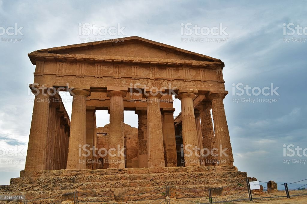 Agrigento, Valle dei Templi stock photo