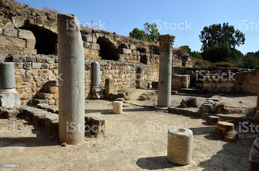 Agrippa palace ruins, Israel stock photo