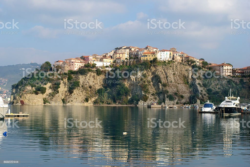 Agropoli City from Cilento Coast Italy stock photo