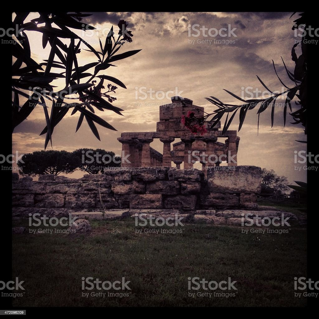 Agropolis temple stock photo