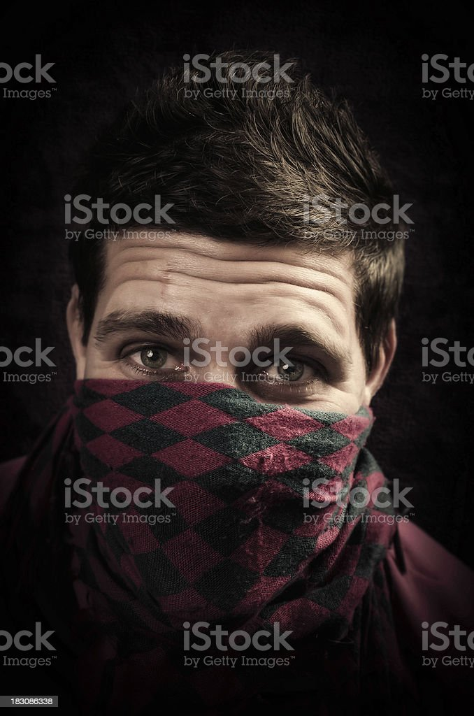 Agrressive look royalty-free stock photo