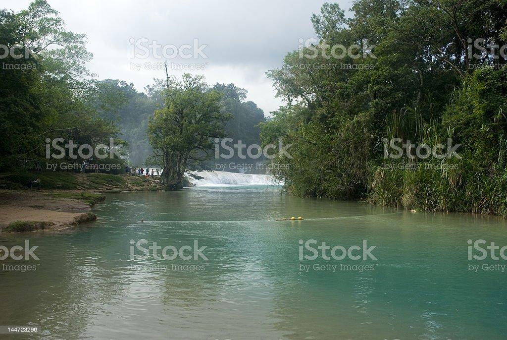 Agua Azul chiapas mexico royalty-free stock photo