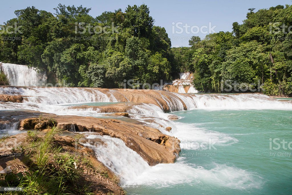 Agua Azul, Mexico stock photo