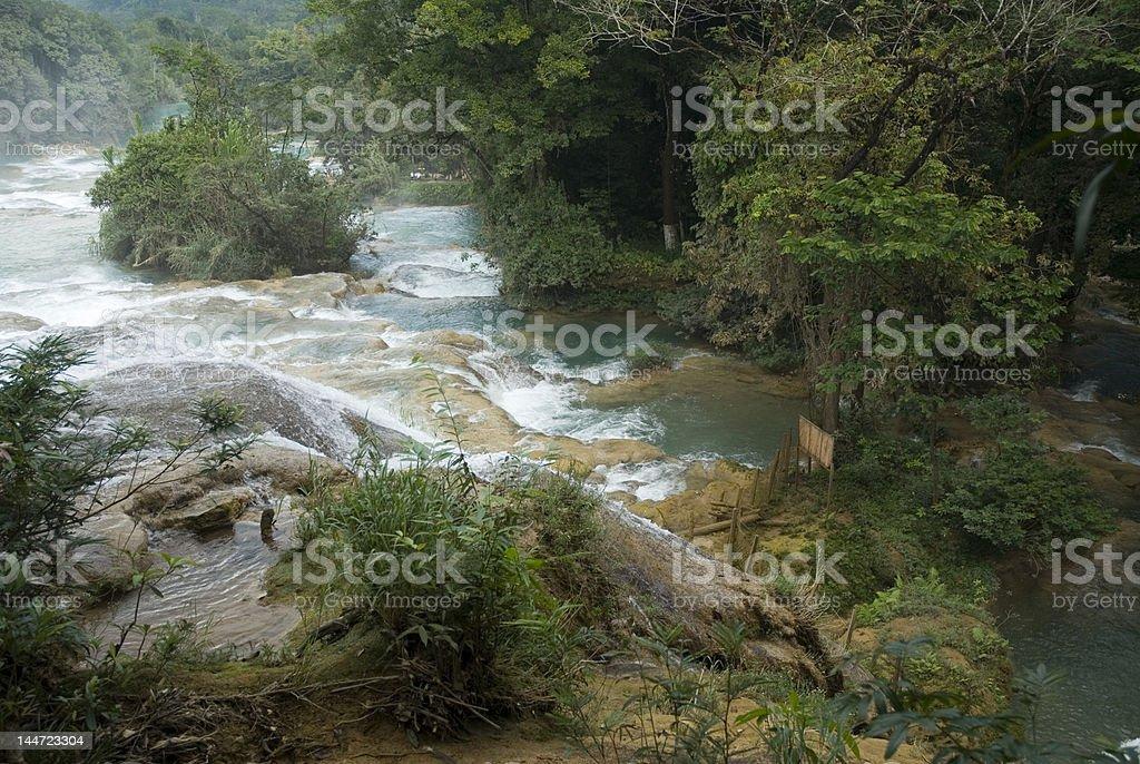 Agua Azul National Park Chiapas Mexico stock photo