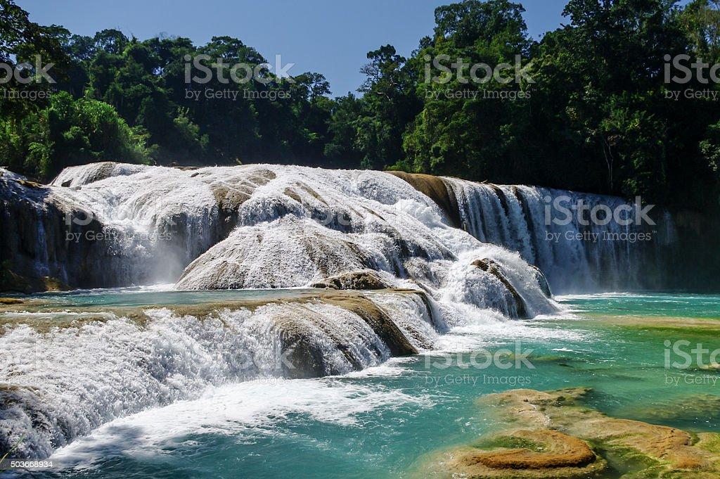 Agua Azul waterfalls, Chiapas, Mexico stock photo