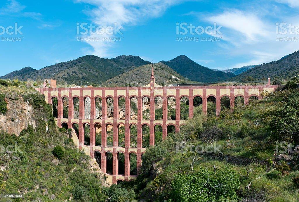 Aguila Aqueduct, Nerja, Spain stock photo