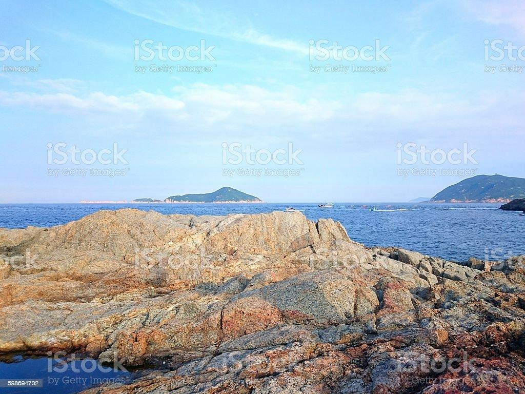 D'Aguilar Peninsula Coastline - Hong Kong stock photo