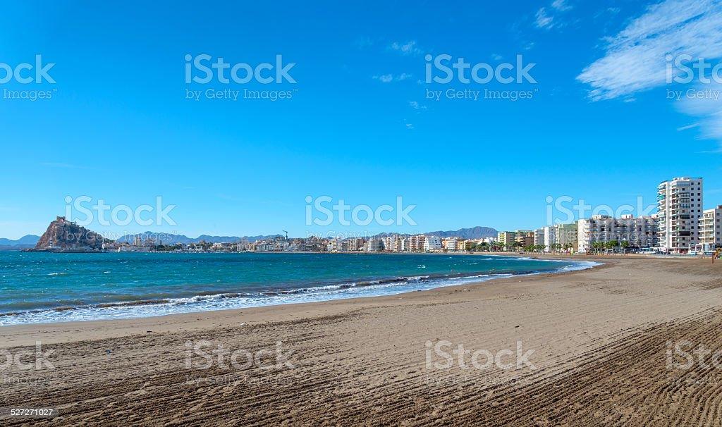 Aguilas Beach stock photo