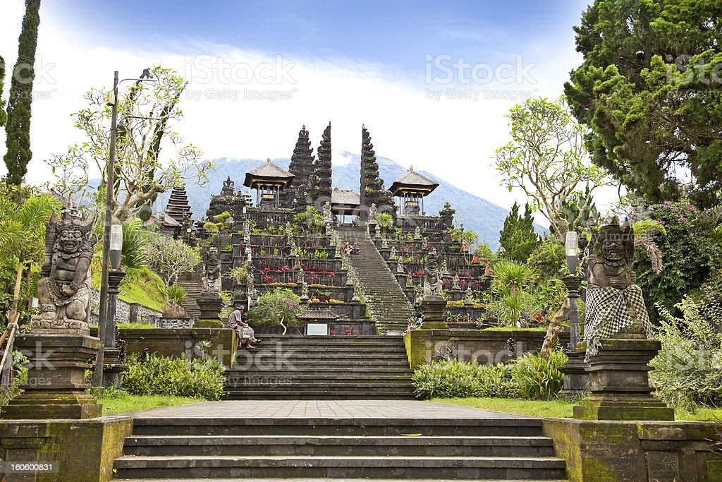 Agung Besakih complex temple, Bali, Indonesia stock photo