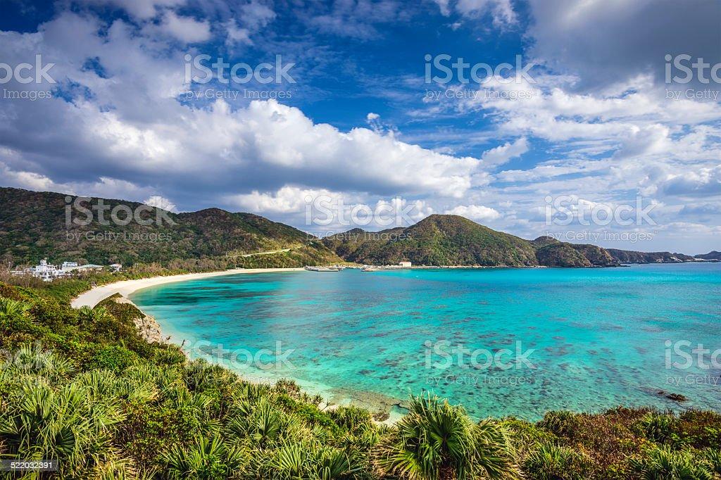 Aharen Beach in Okinawa, Japan stock photo