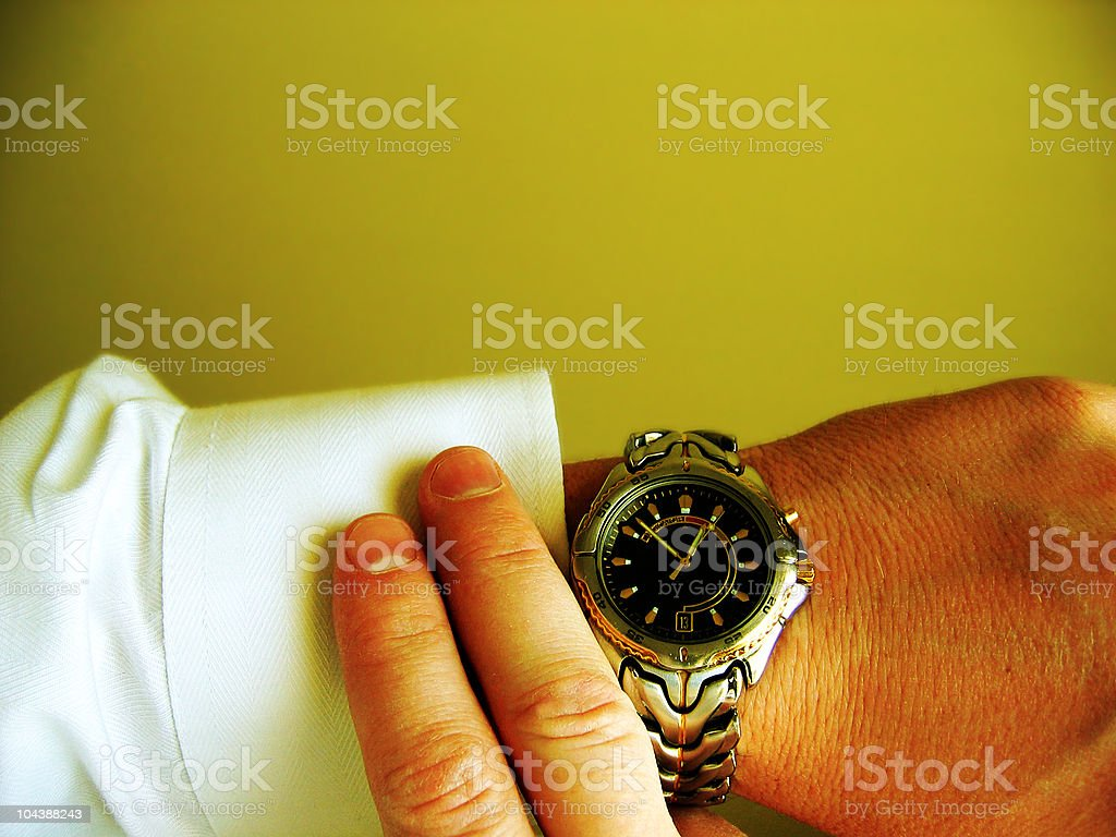 Ahead of schedule royalty-free stock photo