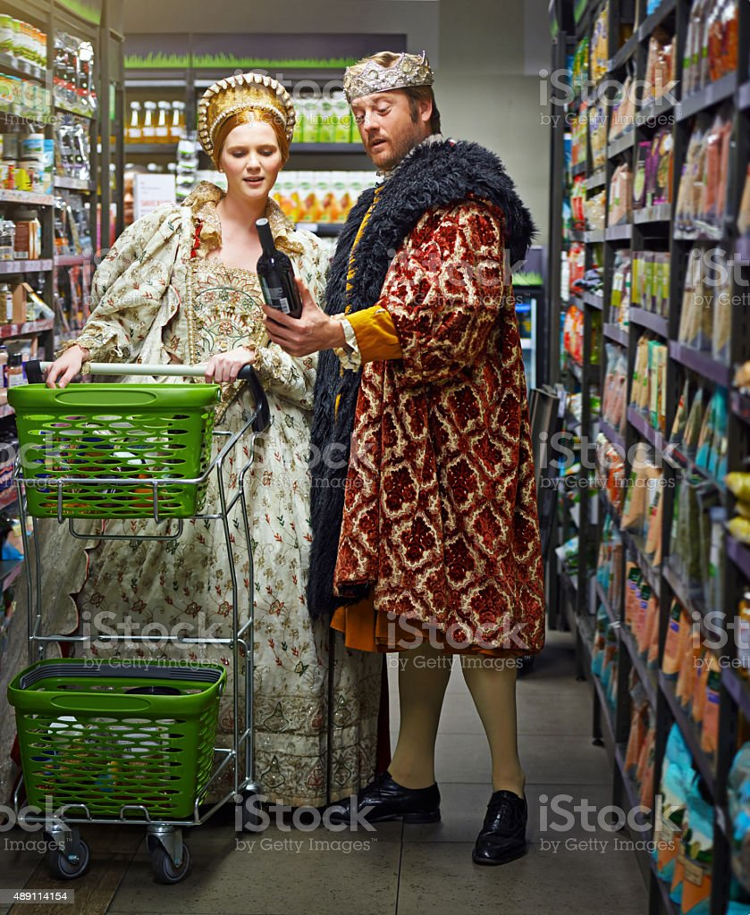 Ahh, tis a fine vintage to imbibe my queen stock photo
