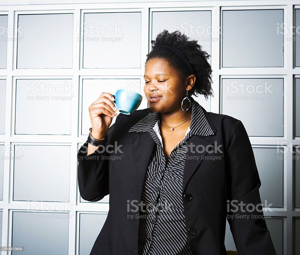 Ahhhh, that was refreshing royalty-free stock photo