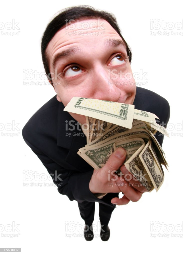 Ahhh...The Scent Of Money royalty-free stock photo