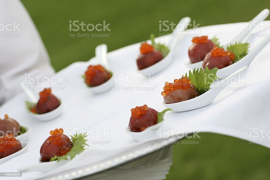 Ahi and Caviar Appetizer royalty-free stock photo