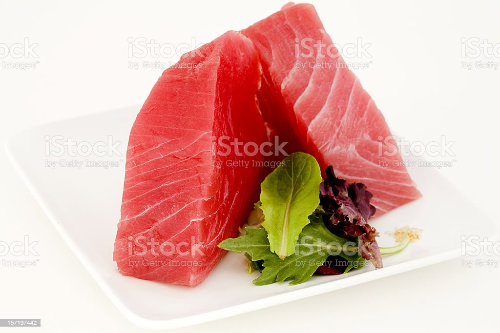 Ahi and Salad Greens stock photo