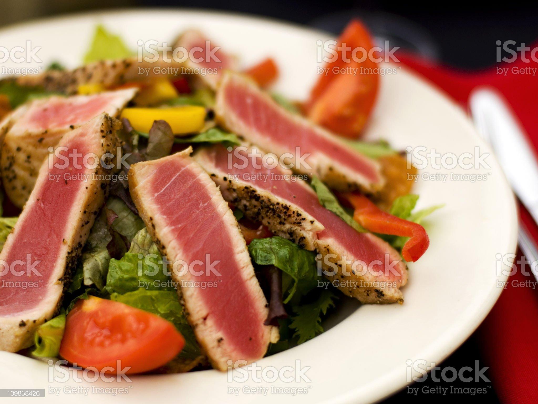Ahi Salad royalty-free stock photo