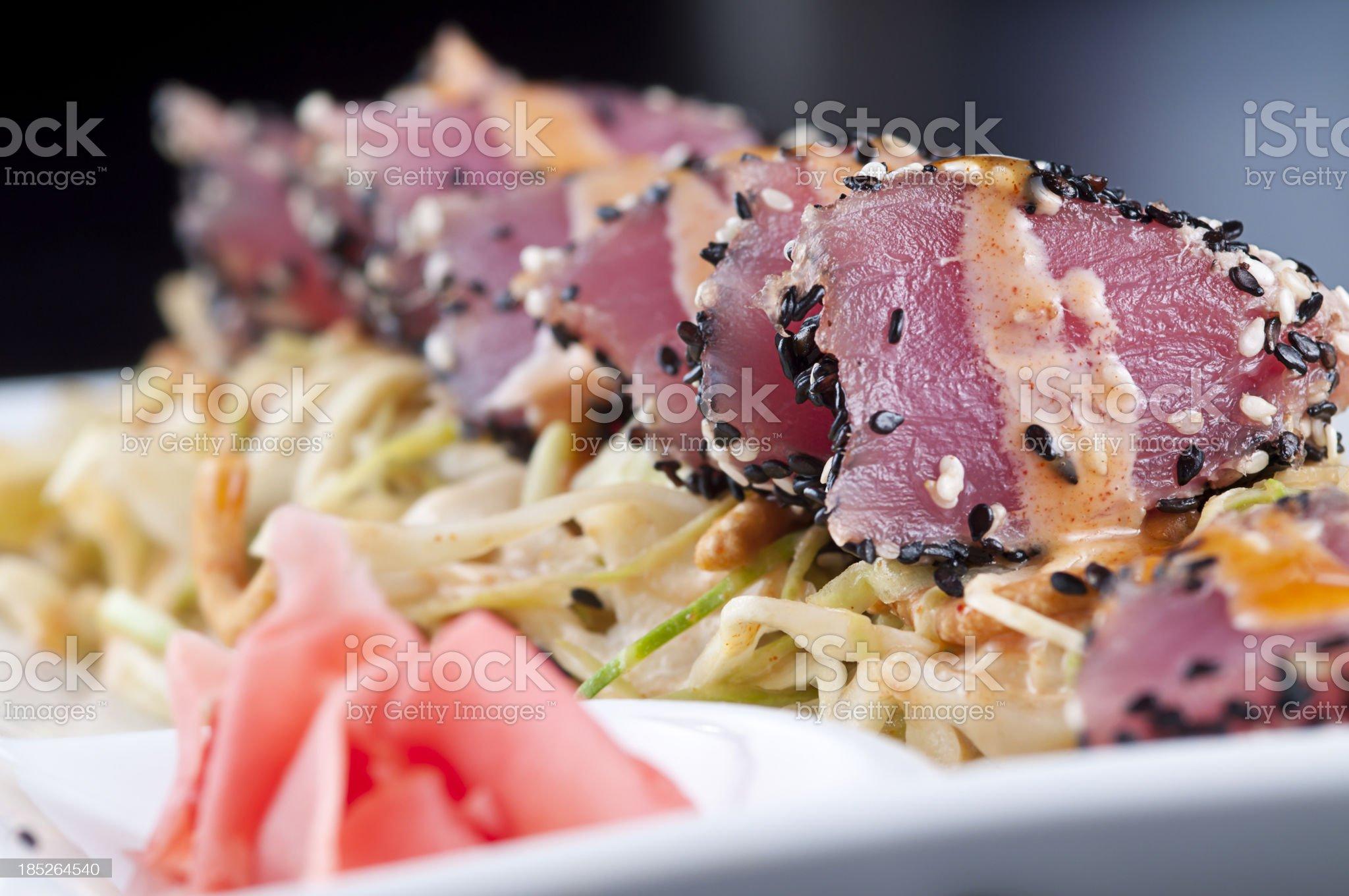 Ahi Tuna Appetizer royalty-free stock photo