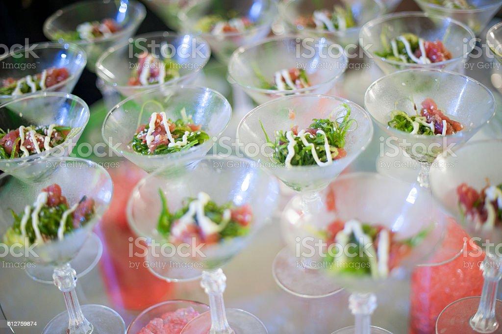 Ahi Tuna Appetizers stock photo