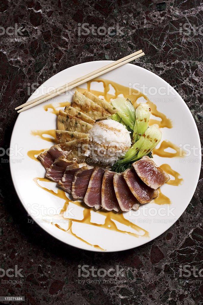 Ahi Tuna Dish royalty-free stock photo