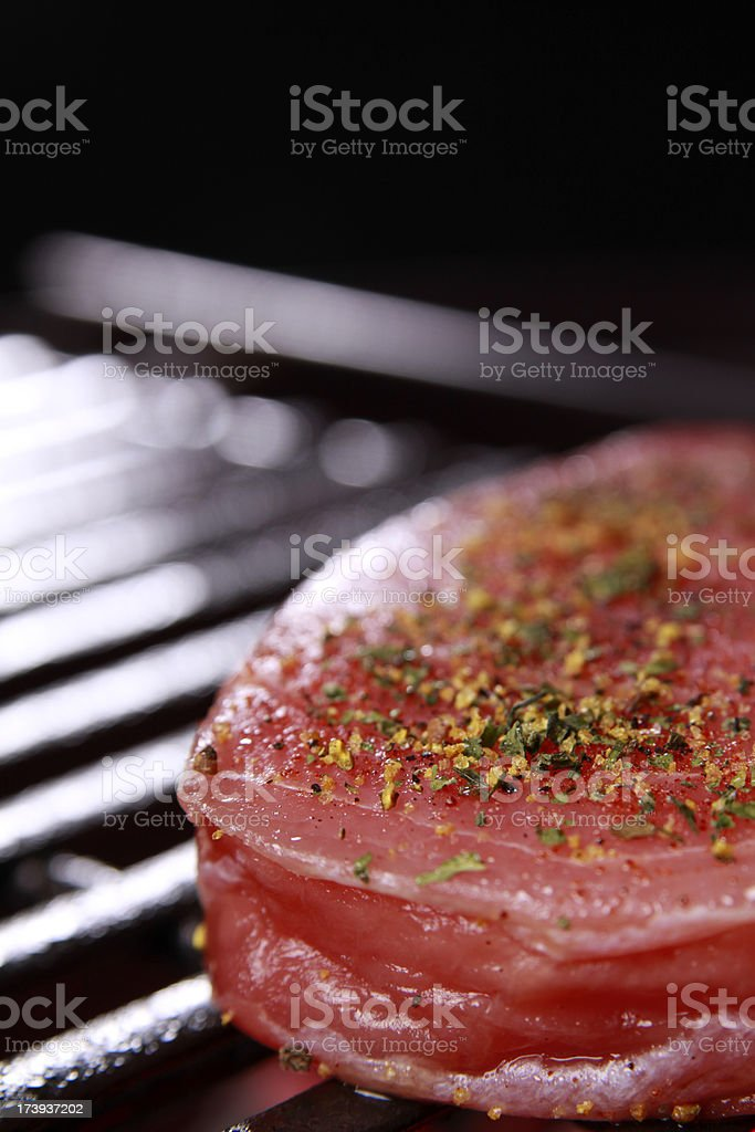 Ahi Tuna on the Barbecue royalty-free stock photo