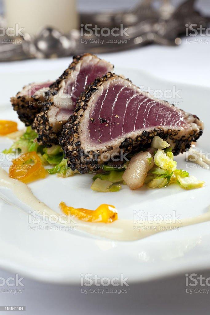 Ahi tuna salad royalty-free stock photo