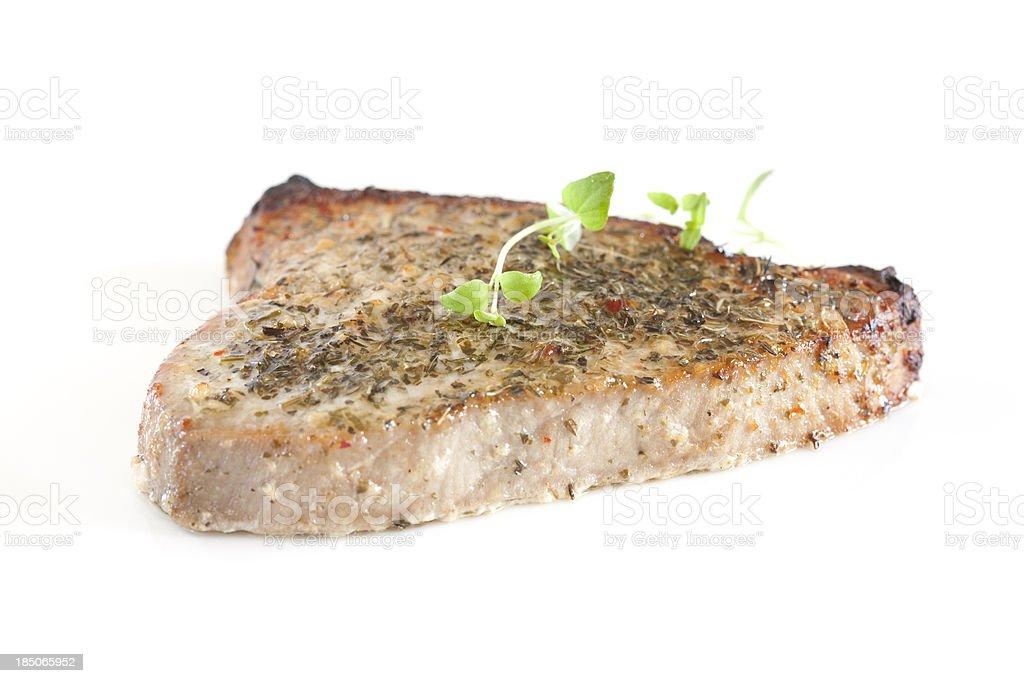 Ahi Tuna Steak royalty-free stock photo