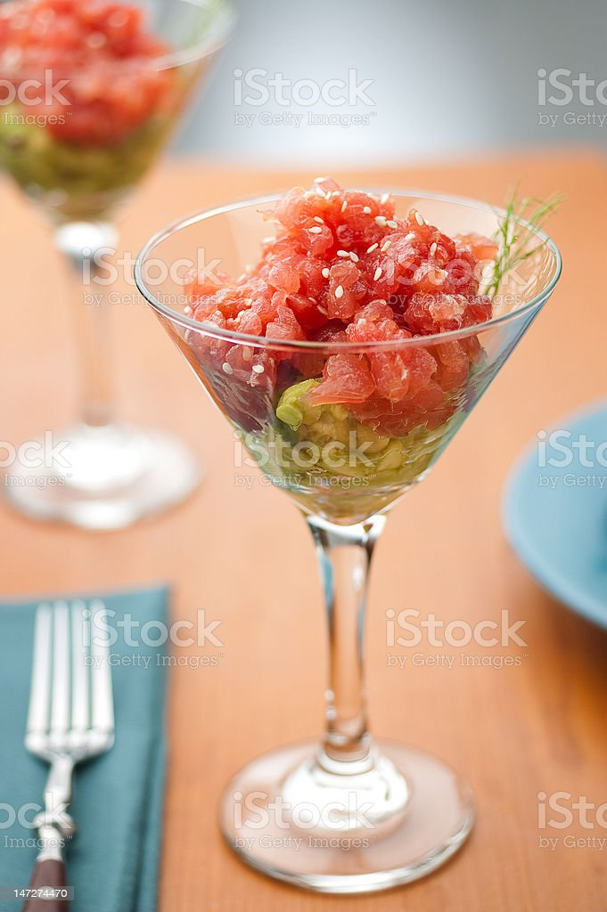 Ahi Tuna Tartare royalty-free stock photo