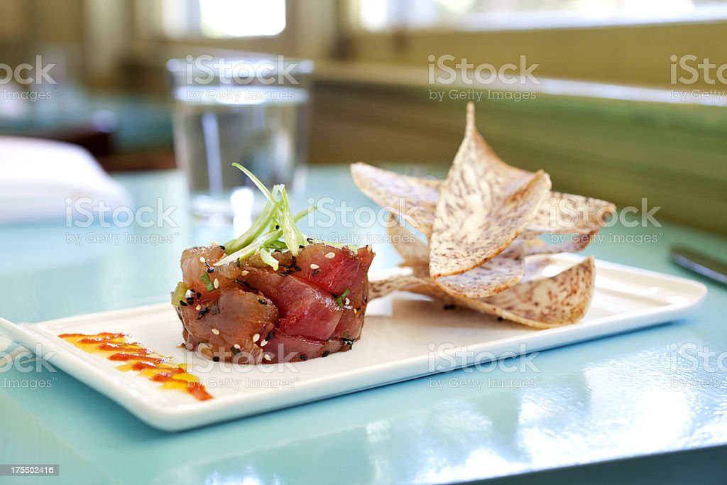 Ahi tuna tartare royalty-free stock photo