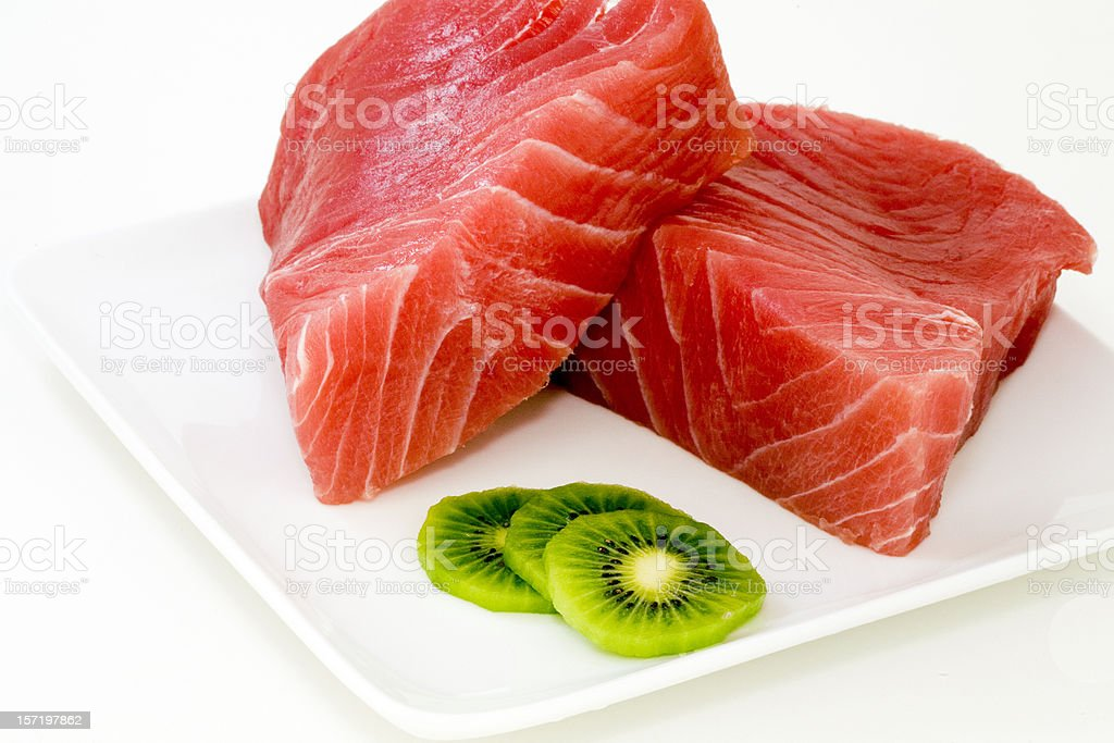 Ahi with Kiwi royalty-free stock photo