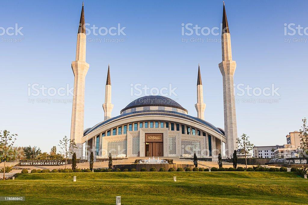 Ahmet Hamdi Akseki Mosque stock photo