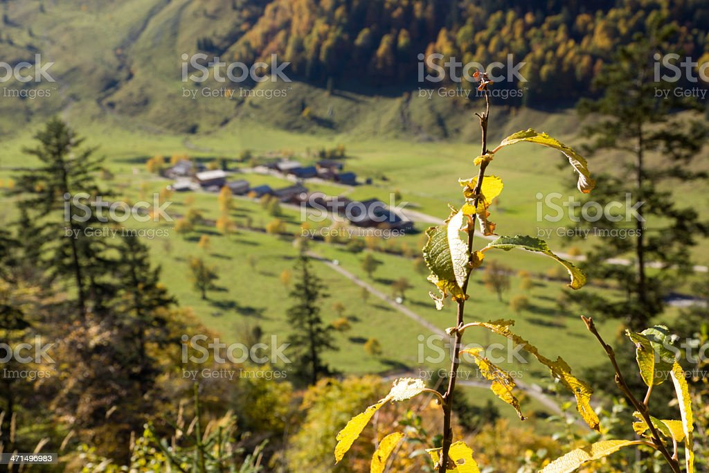 Ahornboden valley view royalty-free stock photo