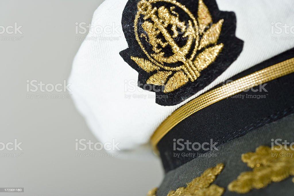 ahoy to the captain stock photo