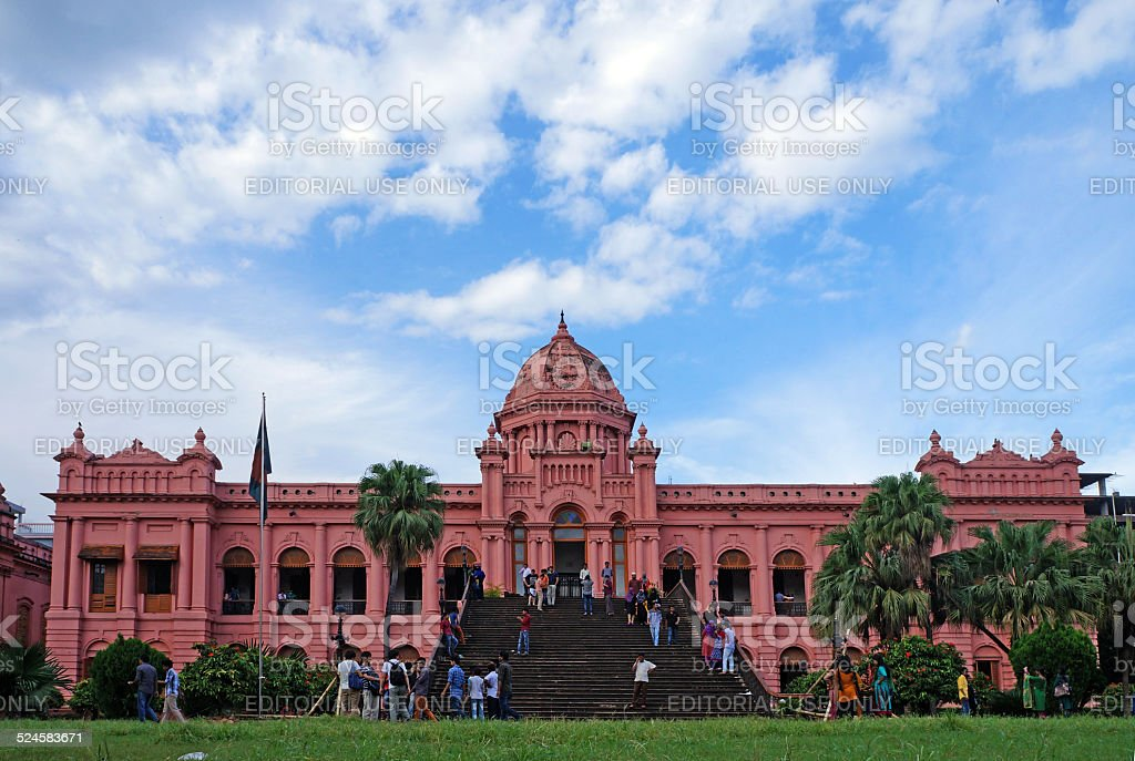 Ahsan Manzil stock photo