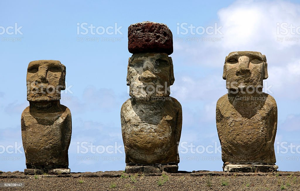 Ahu Tongariki stock photo