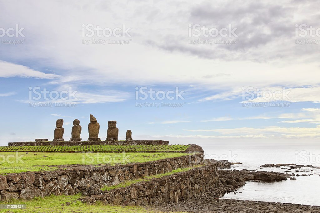 Ahu Vai Ure - Easter Island stock photo