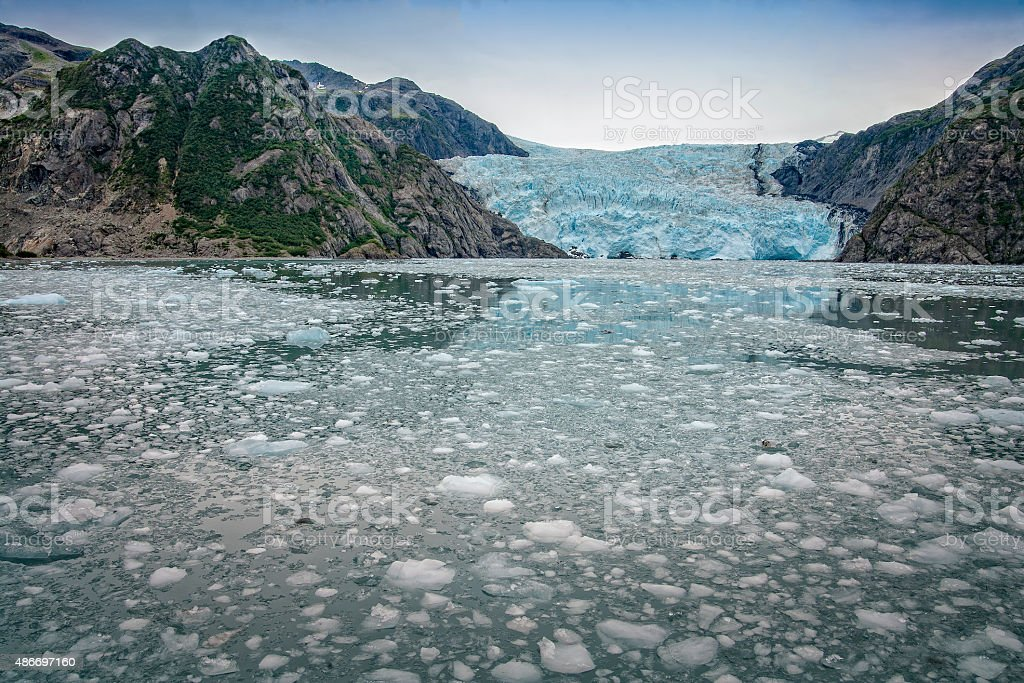 Aialik Glacier, Kenai Fjords National Park, Alaska, USA. stock photo