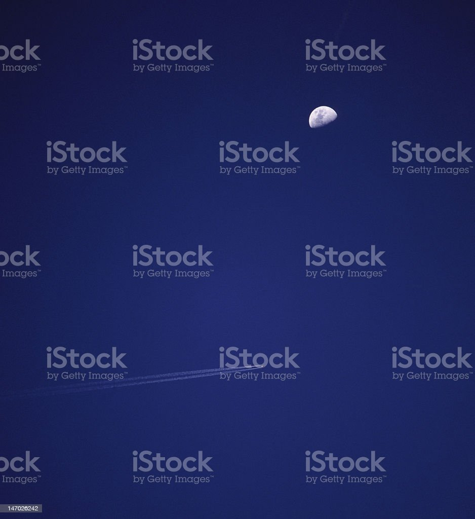 Aicraft Vapour Trail royalty-free stock photo