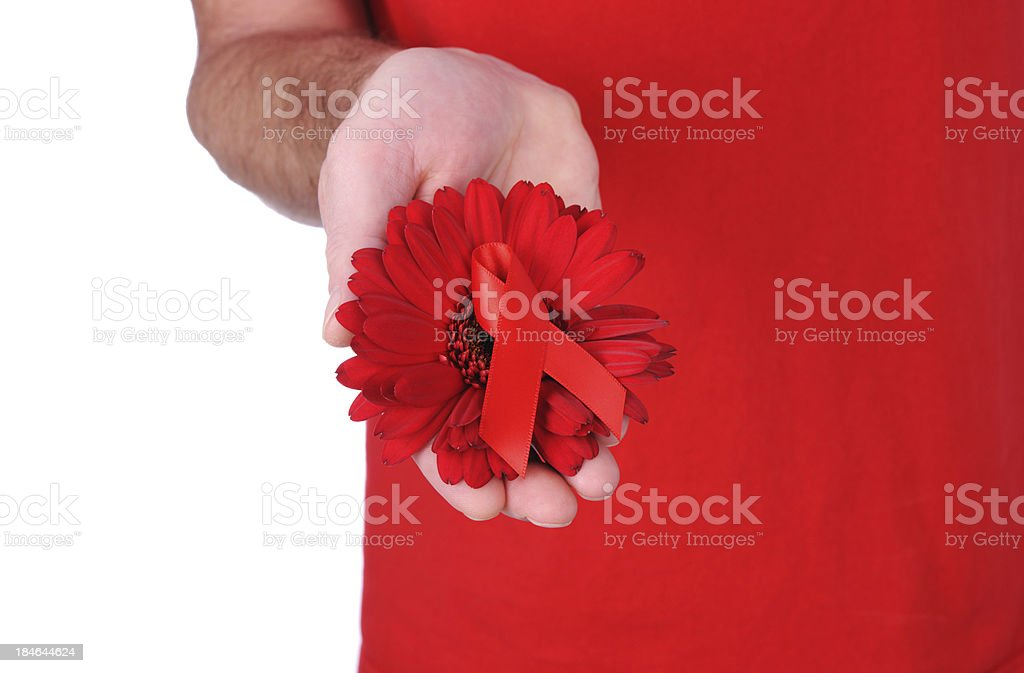 Aids And Heart Disease Support stock photo