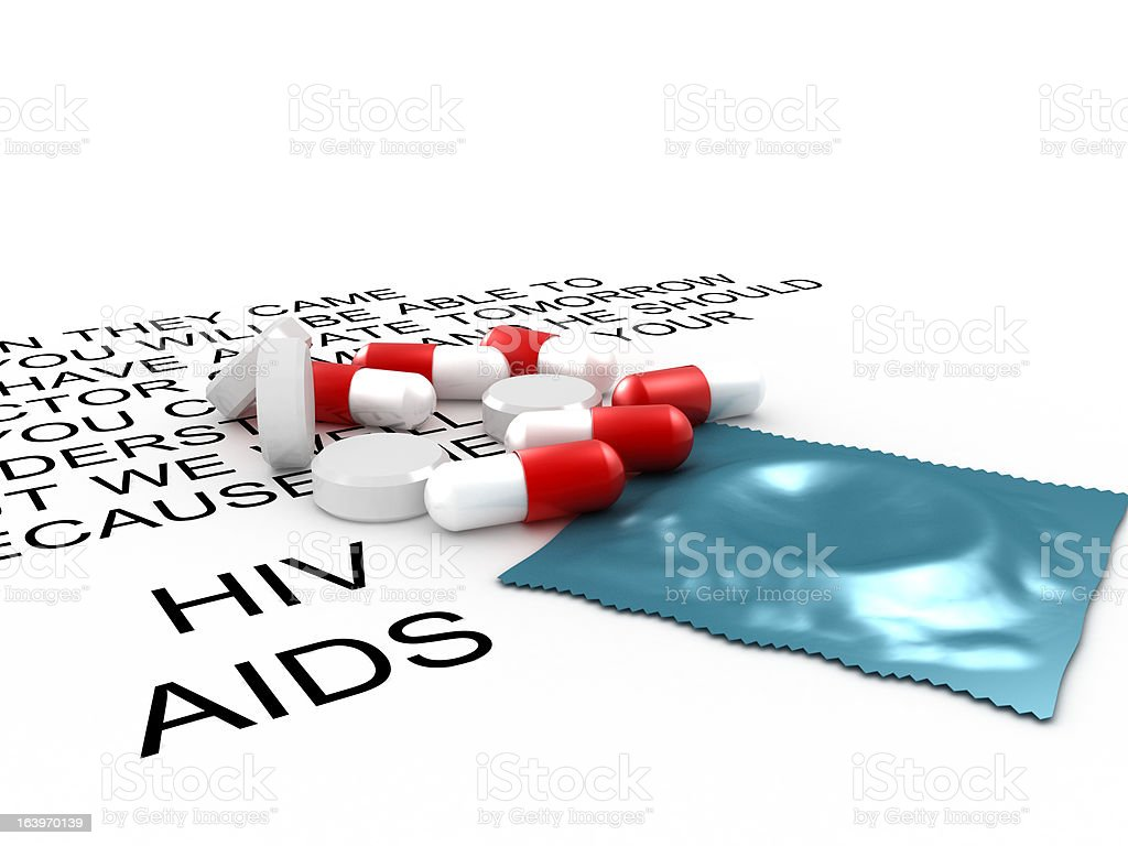 Aids medical and preventive treatment royalty-free stock photo