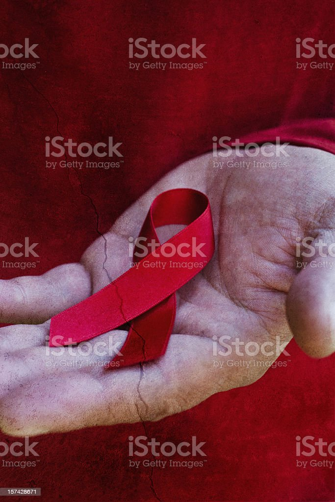Aids Ribbon royalty-free stock photo