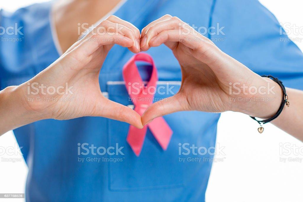 Aids symbol on the uniform stock photo